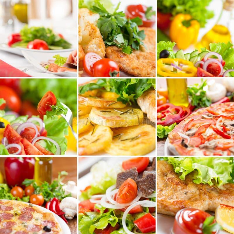 Европейский коллаж еды стоковые изображения