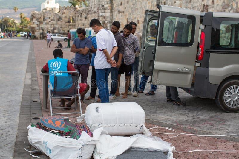 Европейский кризис беженца - остров Kos, Греция стоковые фотографии rf