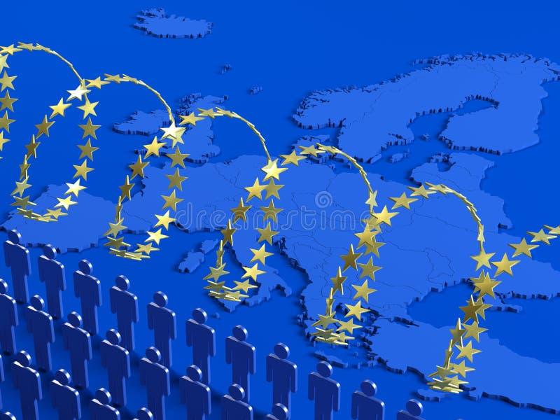 Европейский кризис беженца стоковое изображение rf
