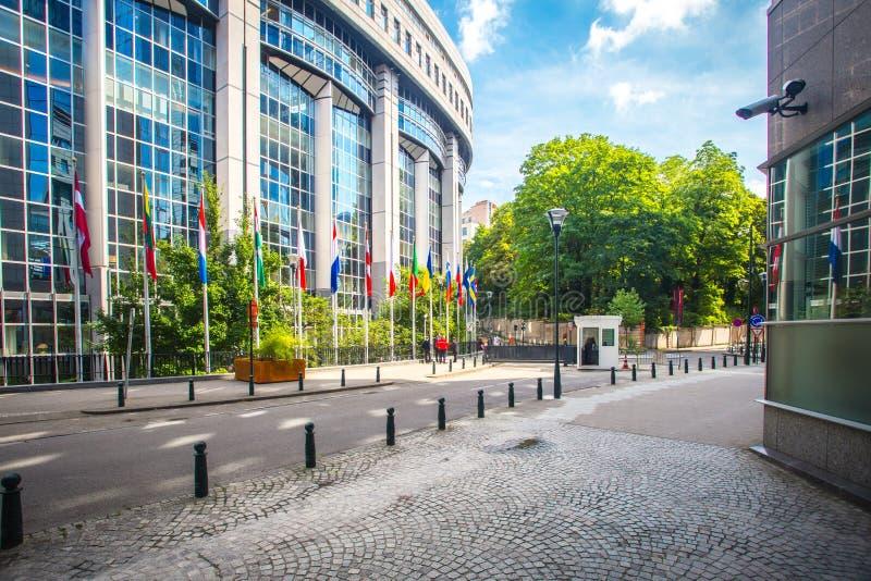 Европейский парламент в Брюссель стоковая фотография