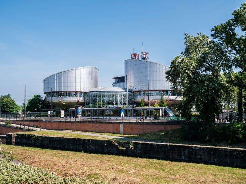 Европейский суд человеческого Rigts в страсбурге, Франции стоковые изображения rf