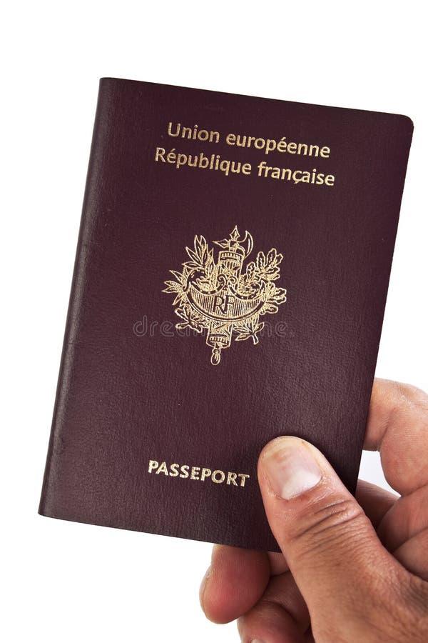 европейский французский пасспорт руки стоковое изображение rf