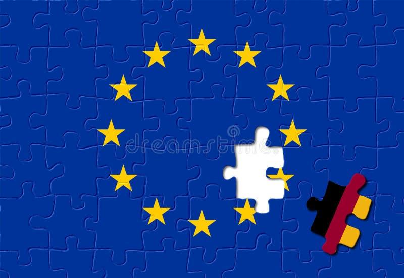 европейское соединение Германии иллюстрация штока