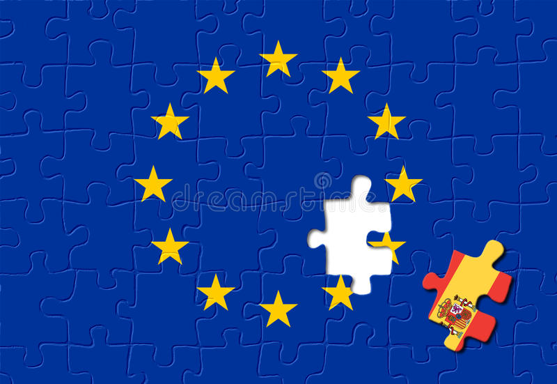 европейское соединение Испании стоковые изображения rf