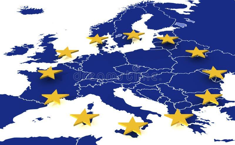европейское соединение карты бесплатная иллюстрация