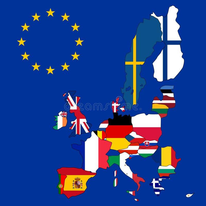 европейское соединение карты иллюстрация штока
