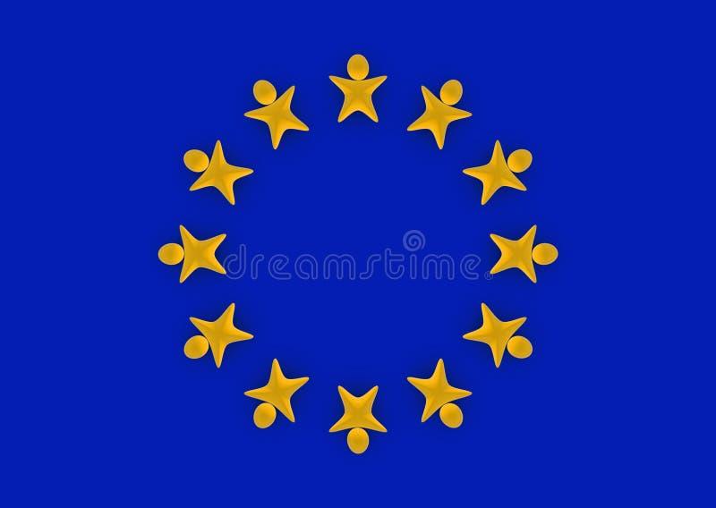 европейское соединение людей иллюстрация вектора
