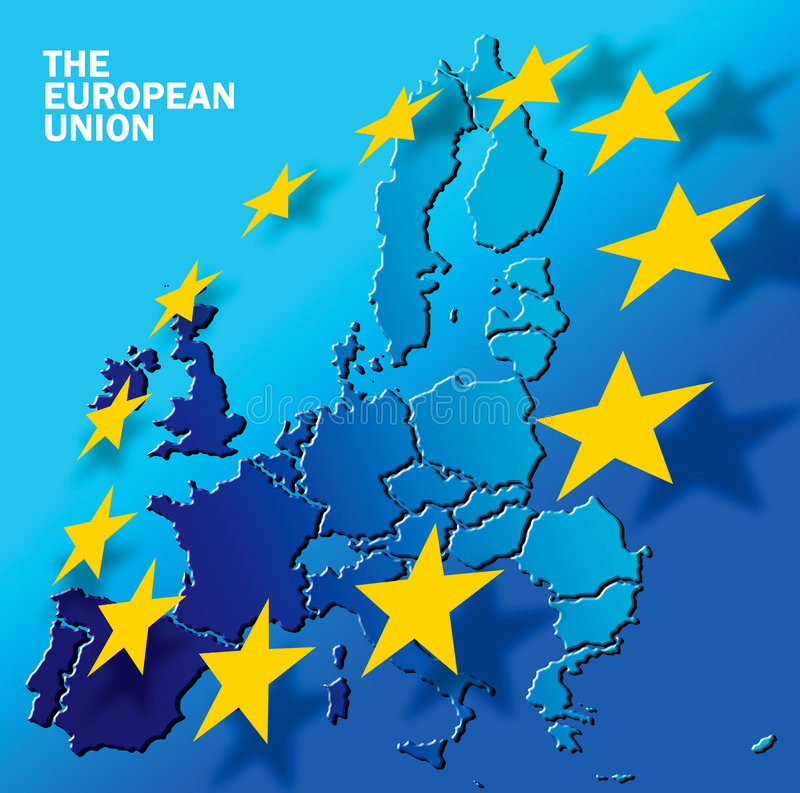 европейское соединение текста иллюстрация штока
