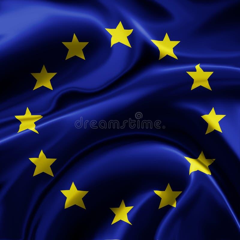 европейское соединение флага иллюстрация штока