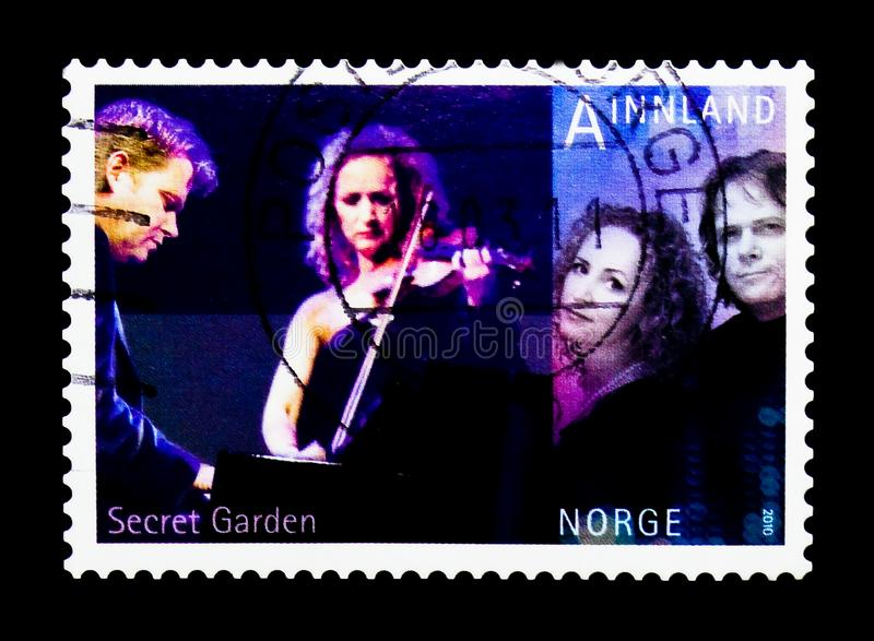 Европейское состязание песни - секретный сад, serie музыки, около 2010 стоковое изображение rf