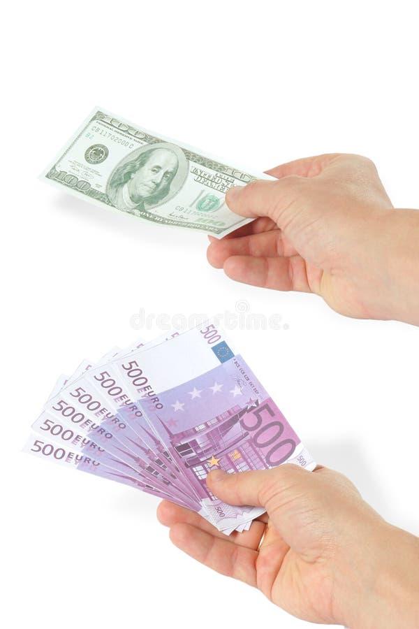 евро доллара стоковое изображение