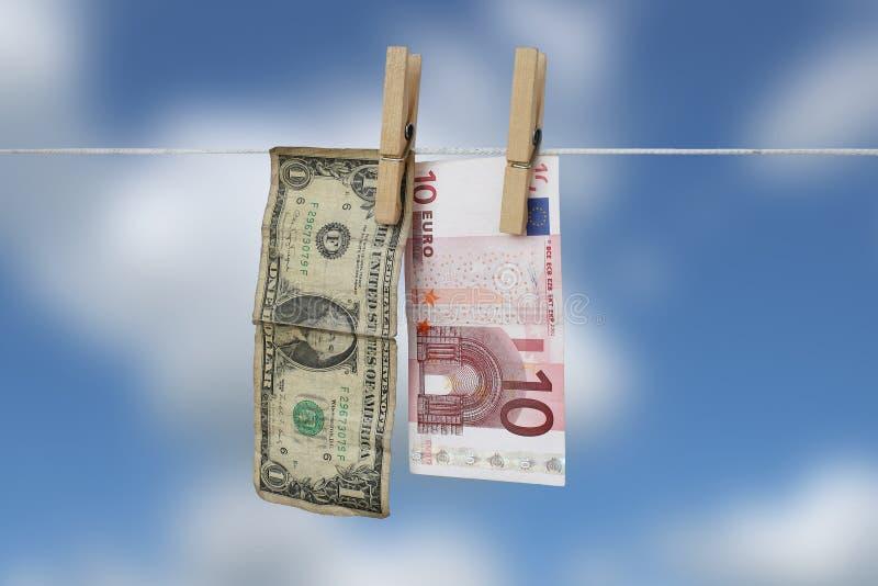 евро доллара иллюстрация вектора