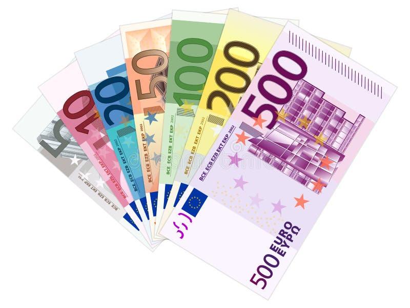 евро замечает отражение иллюстрация штока