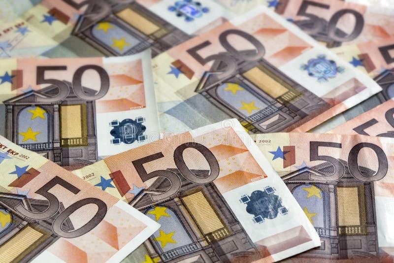 Евро замечает предпосылку стоковые фото