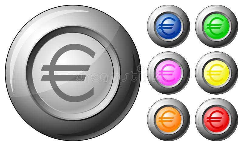 Евро кнопки сферы иллюстрация штока