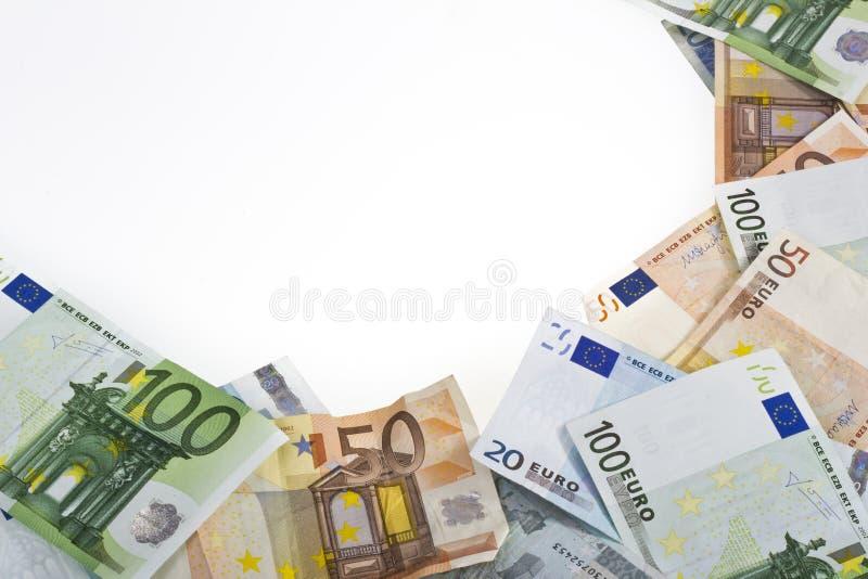 евро кредиток над белизной стоковое изображение