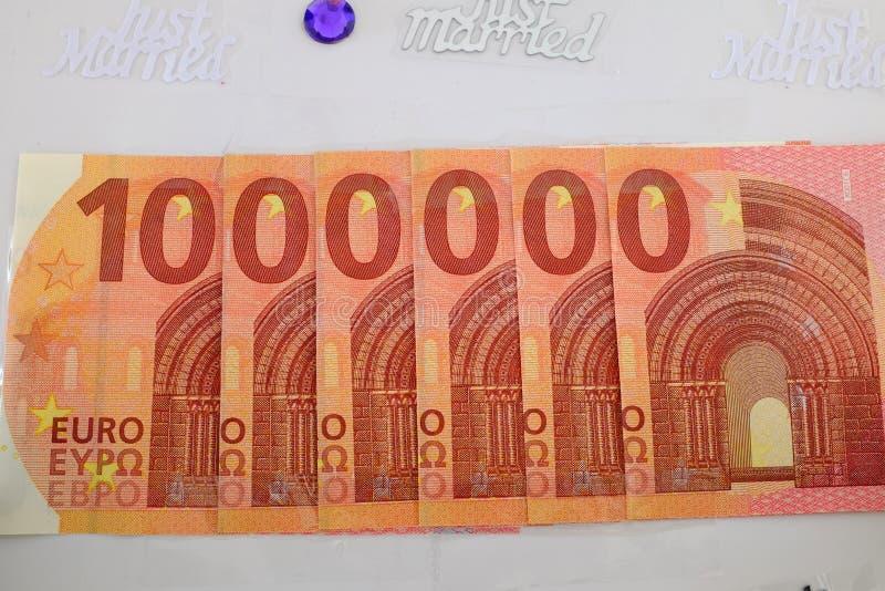 1 евро миллион стоковая фотография rf