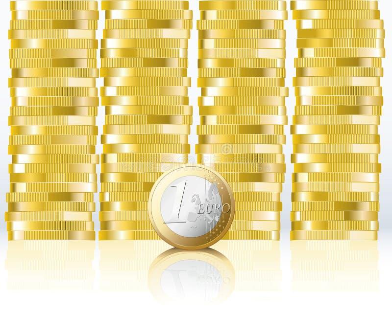 евро монетки иллюстрация штока
