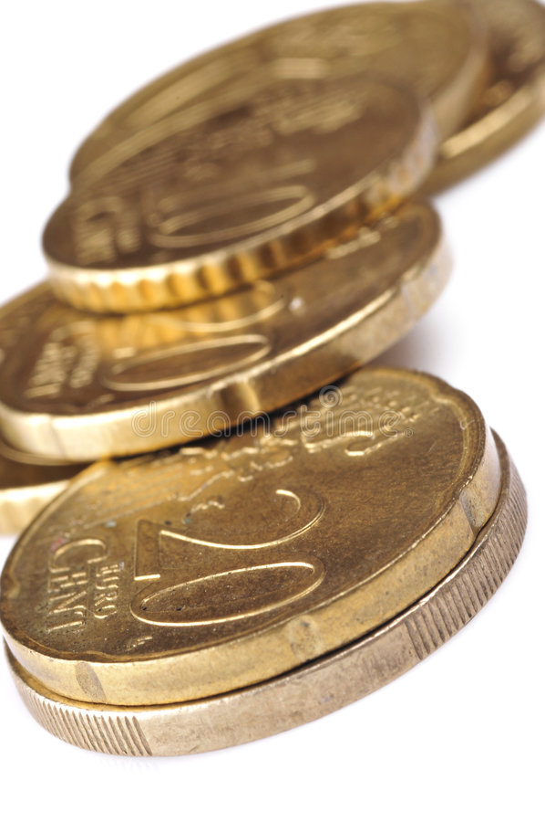 евро монетки стоковое фото rf