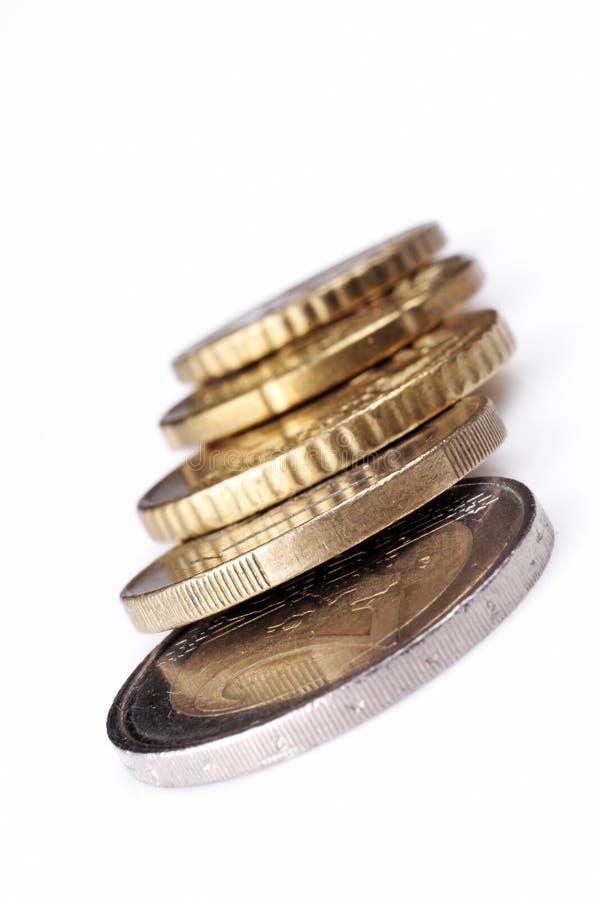 евро монетки стоковые изображения rf