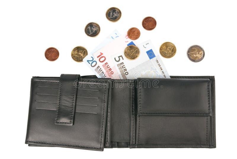 евро монеток кредиток стоковые фото
