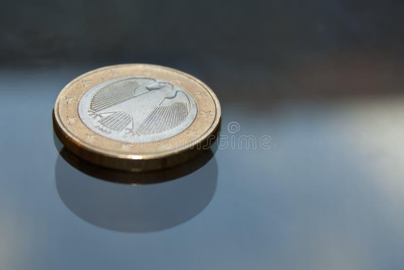 евро одно монетки стоковое изображение