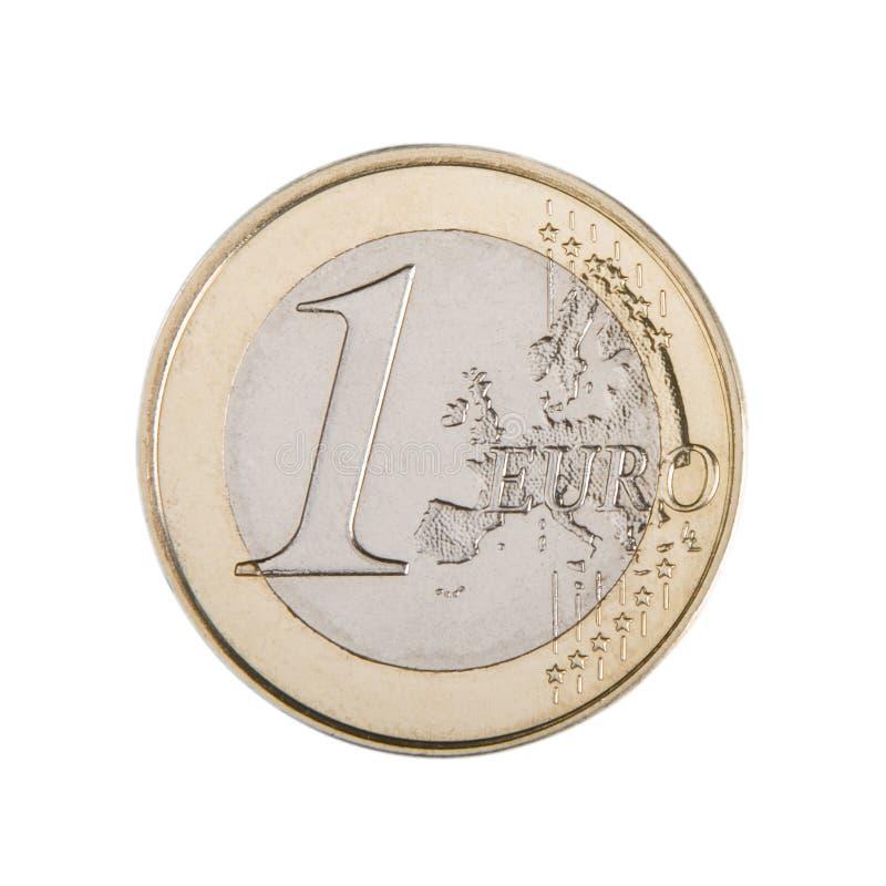 евро одно монетки стоковое фото