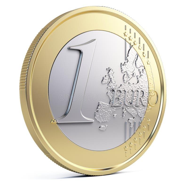 евро одно монетки иллюстрация вектора