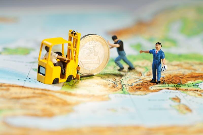 евро подпирая вверх стоковые фото