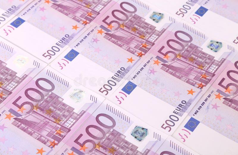 5 евро сотен предпосылки банкнот. стоковое изображение