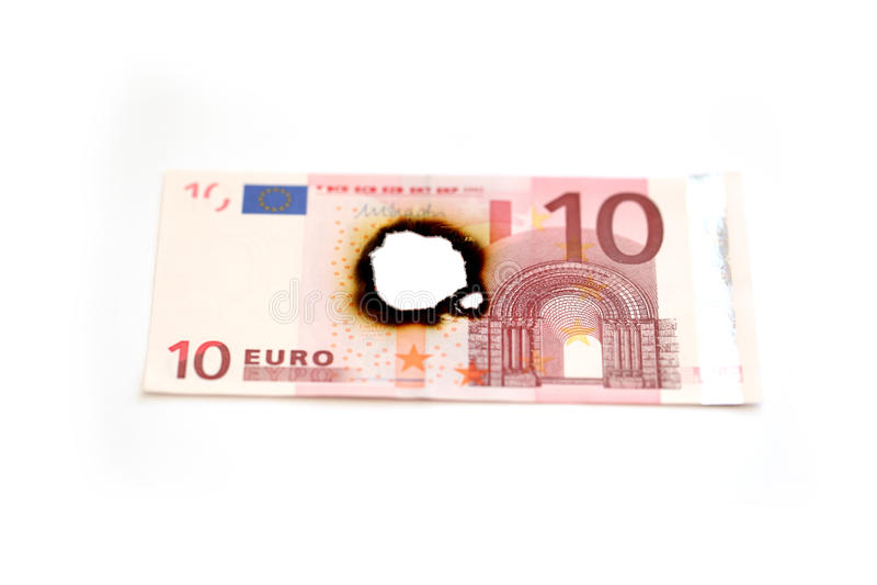 евро 10 счета стоковое фото