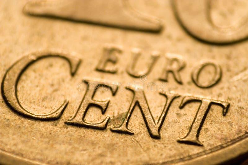 евро цента стоковое изображение rf