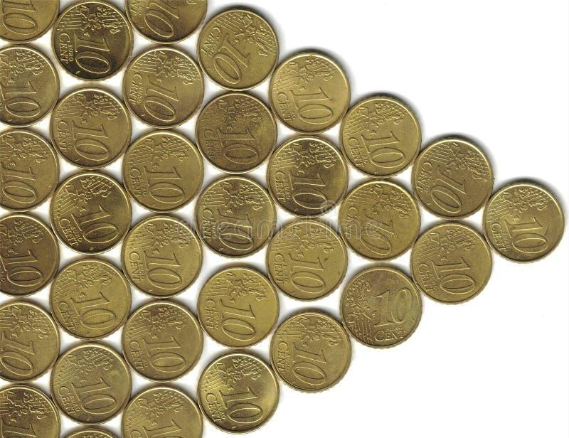 евро центов стрелки стоковое изображение