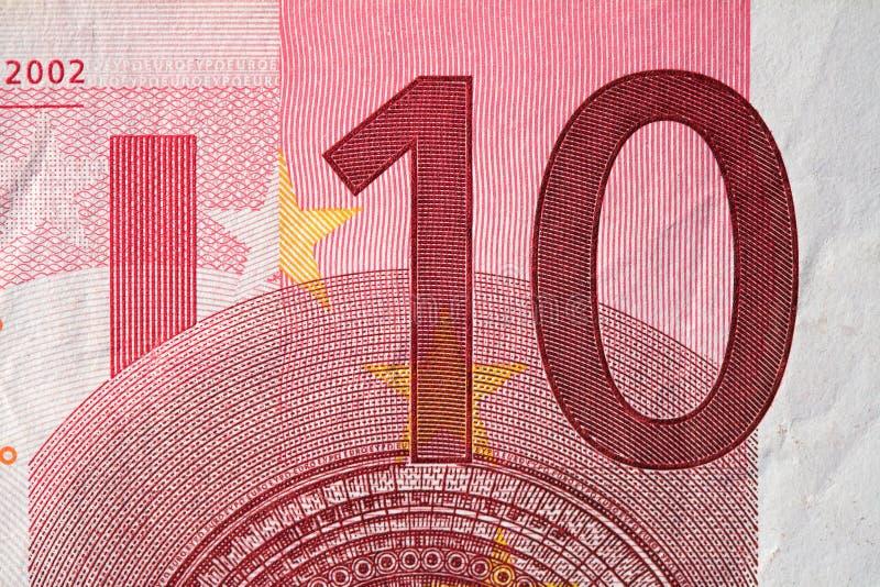 евро 10 счета стоковая фотография