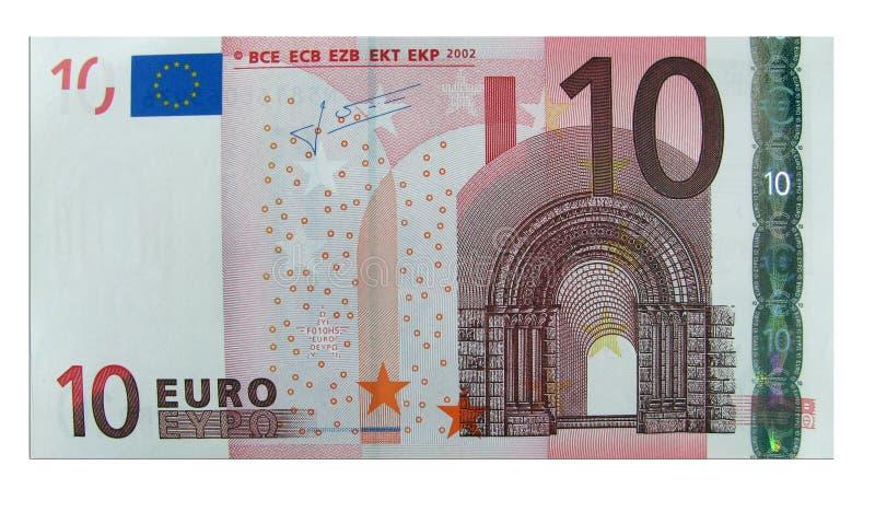 евро 10 стоковая фотография