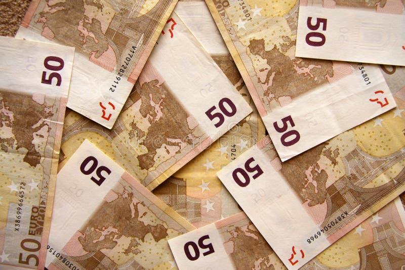 евро 50 наличных дег кредиток стоковое изображение