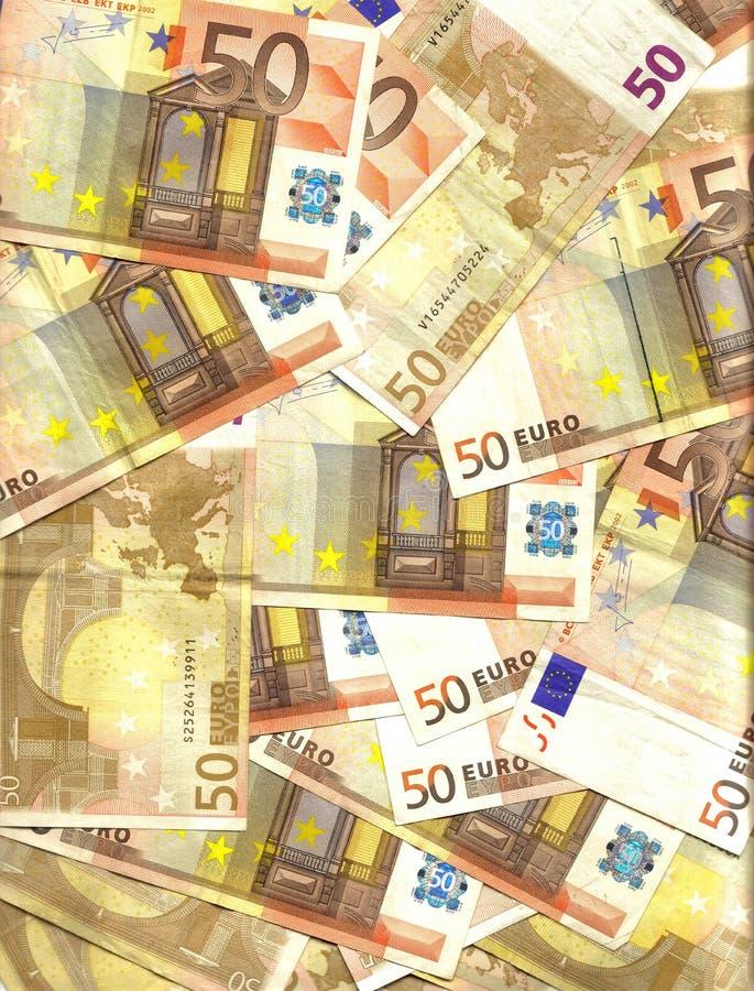 евро 50 предпосылок стоковое изображение rf