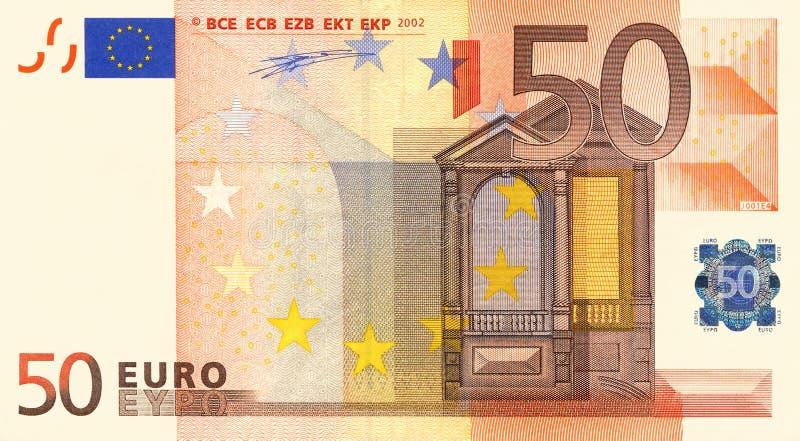 евро 50 стоковое фото