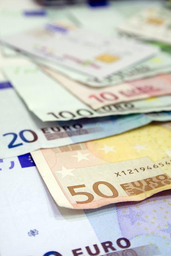 евро billls стоковое фото