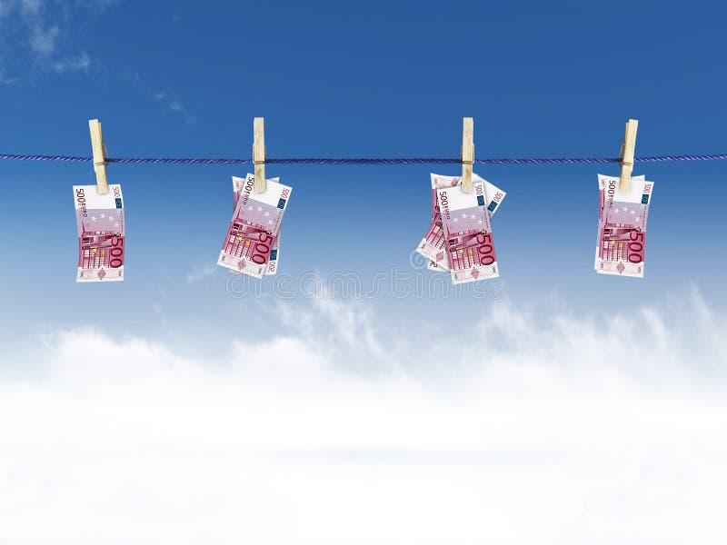 евро clothesline стоковое изображение rf