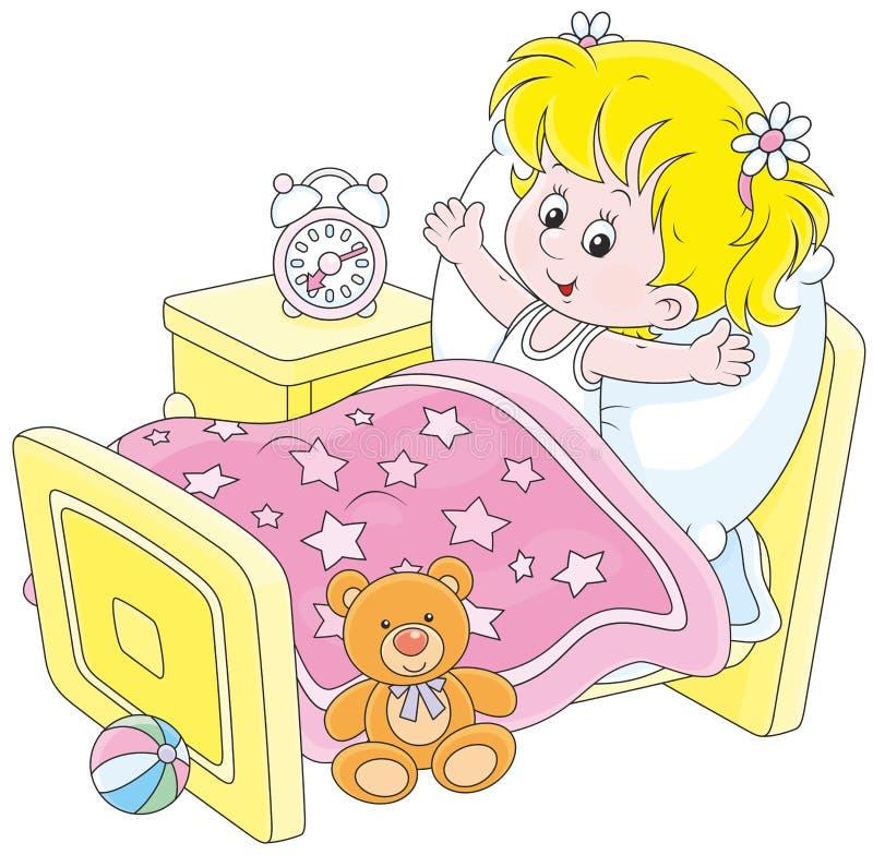 девушка вверх просыпая бесплатная иллюстрация