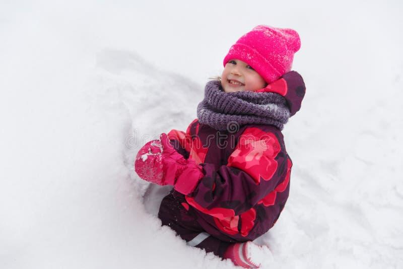 девушка меньшяя зима парка стоковое изображение rf