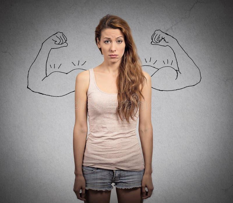 девушка мощная стоковое изображение
