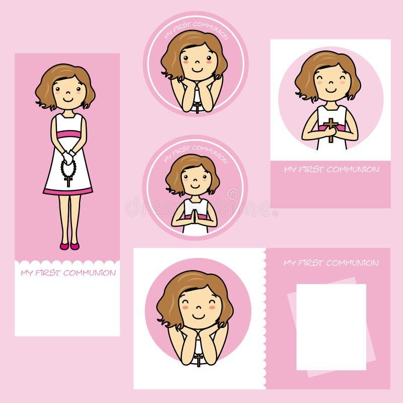 девушка общности первая иллюстрация штока