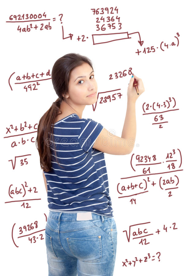 Download девушка предпосылки над детенышами студии студента всхода белыми Стоковое Фото - изображение насчитывающей университет, стоять: 40580698