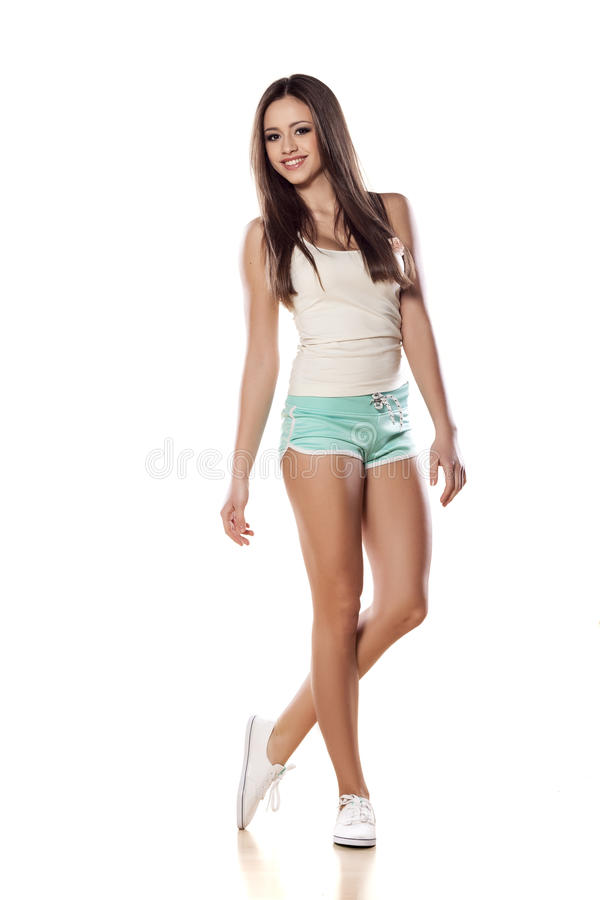 девушка sporty стоковое изображение rf