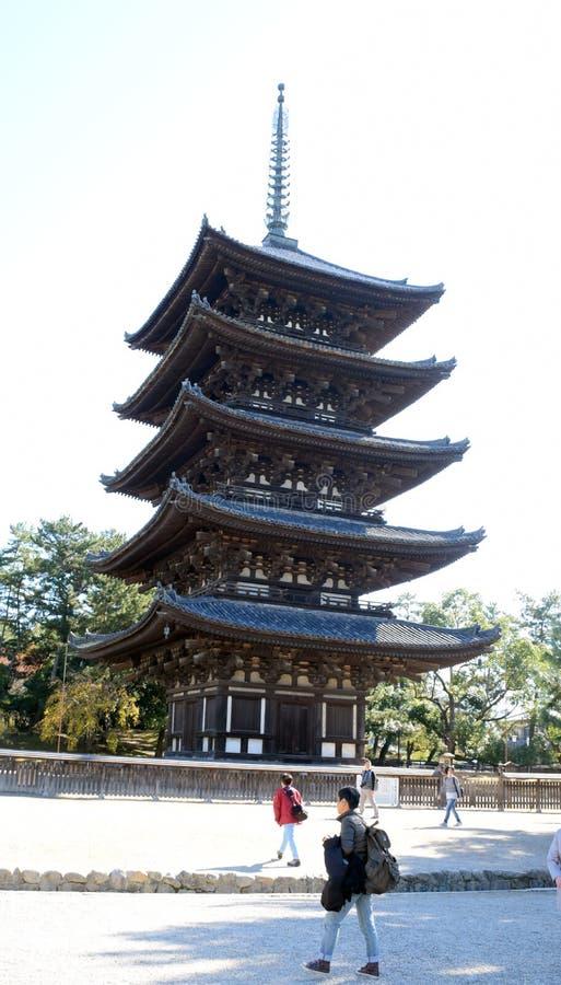 5-легендарная пагода виска Kofuku-ji стоковая фотография rf