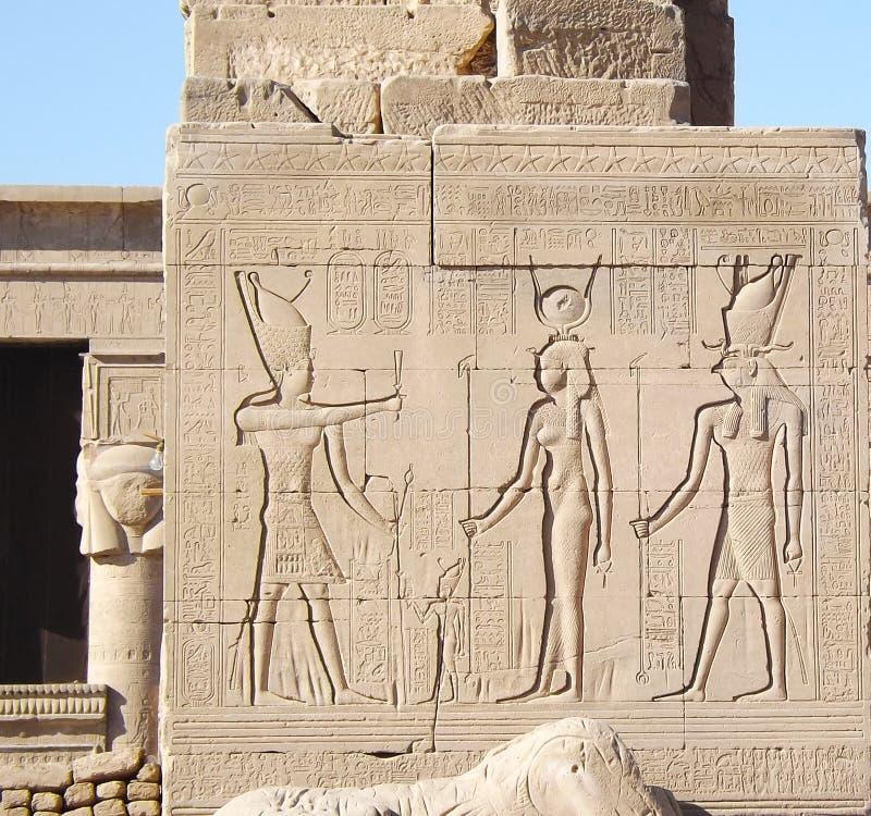 Египетская сила двор святейший luxor колонок большинств бортовой висок стоковое фото rf