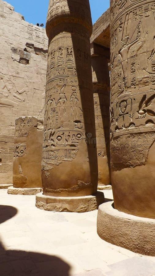 Египетская сила двор святейший luxor колонок большинств бортовой висок стоковая фотография rf