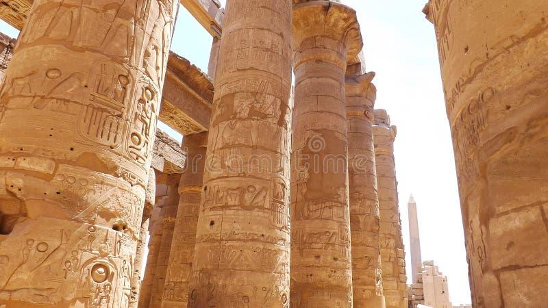 Египетская сила двор святейший luxor колонок большинств бортовой висок стоковые изображения